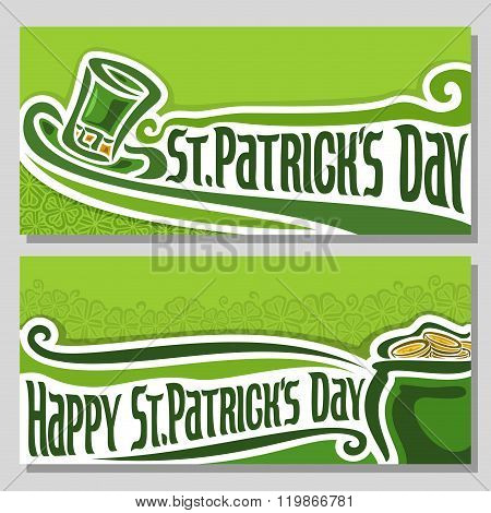 Vector illustration for text on the theme of St. Patrick's Day