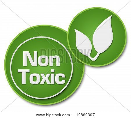 Non Toxic Two Green Circles