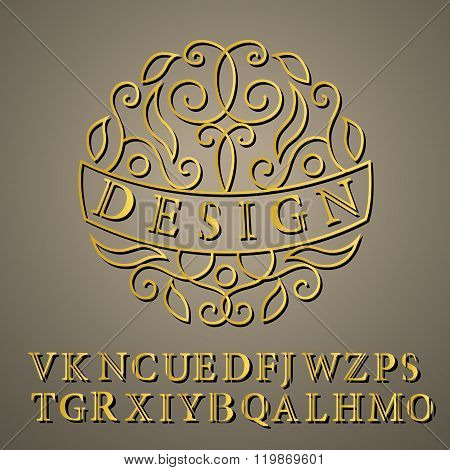 Monogram Design Elements, English Letters. Elegant Line Art Logo Design. Business Sign