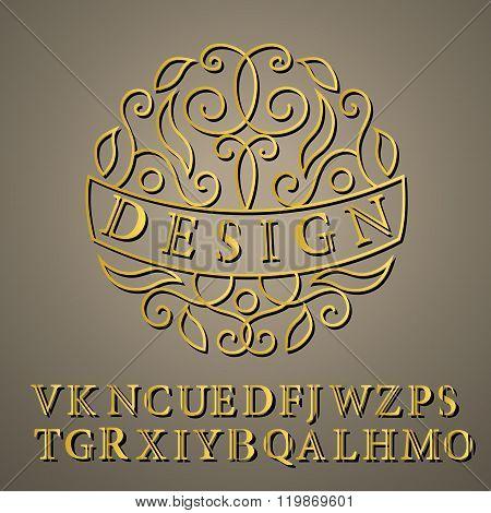 Monogram Design Elements, English Letters. Elegant Line Art Logo Design. Business Sign