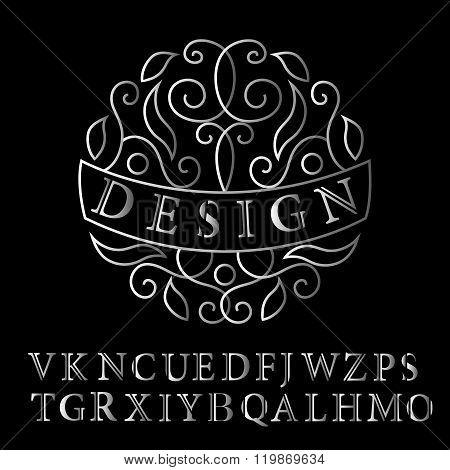 Monogram design elements, graceful template. Elegant line art logo design. Business sign