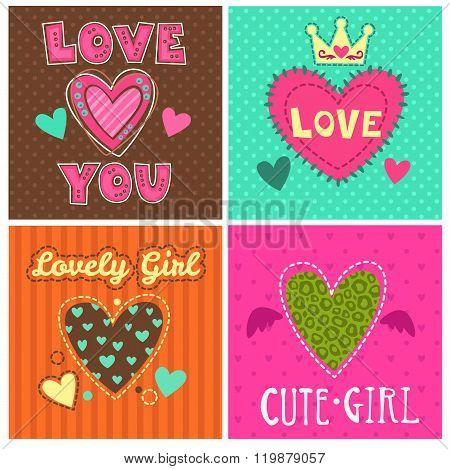 Funny girlish prints set