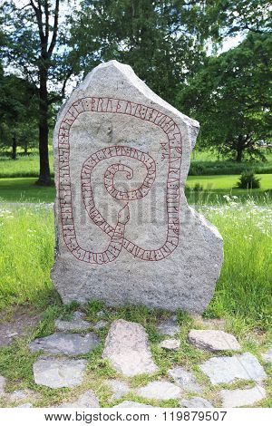 Runic Inscriptions On A Runestone