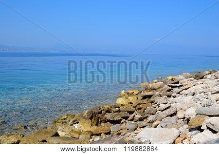 Rocks On The Coast Of Ionian Sea.