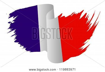 France Flag Vector Symbol Icon  Design. French Flag Color Illustration Isolated On White Background.