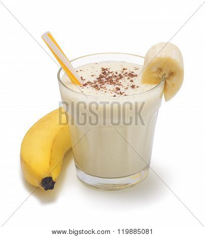 banana smoothie isolated