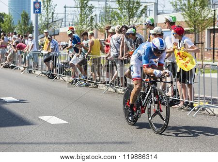 The Cyclist Matthieu Ladagnous - Tour De France 2015