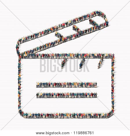 people   Clapperboard  group icon