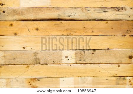 Yellow Brown Wood Wall For Background Texture