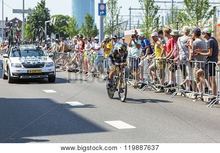 The Cyclist Jacques Janse Van Rensburg  - Tour De France 2015