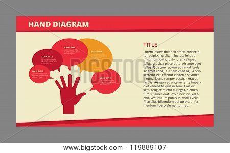 Hand diagram sample template