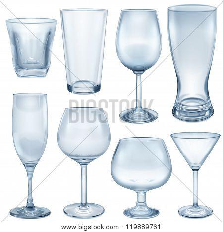 Opaque Empty Glasses And Stemware
