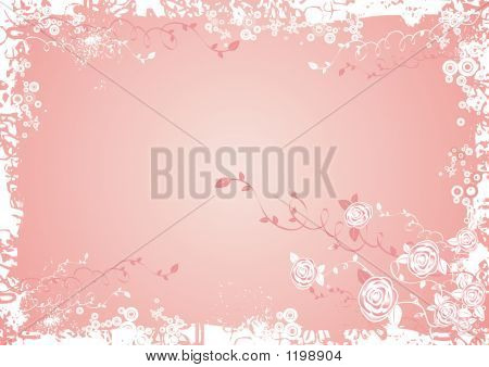 Background With Rose Flowers