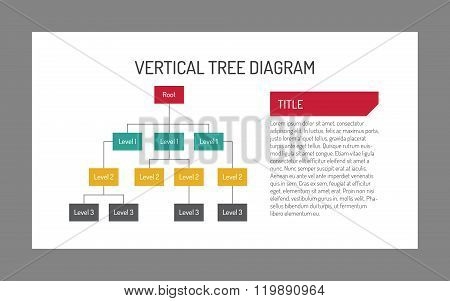 Vertical tree diagram template 6