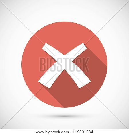 Wrong mark icon flat