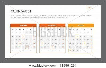 Calendar Template 1
