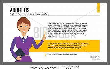 Company information slide template