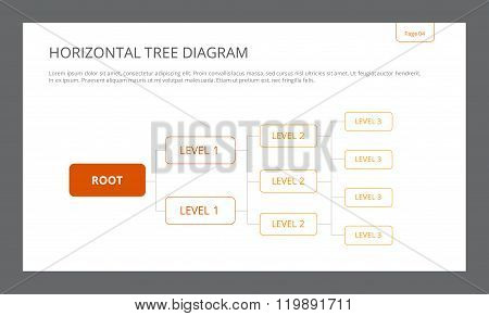Horizontal Tree Diagram Template