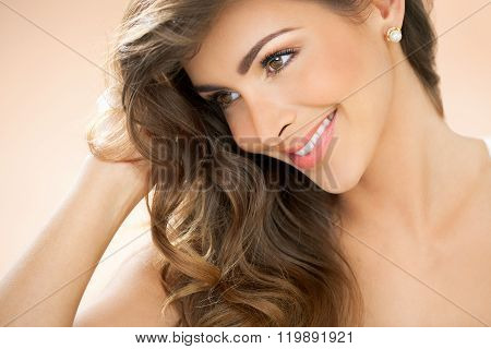 Warm Portrait Of Woman