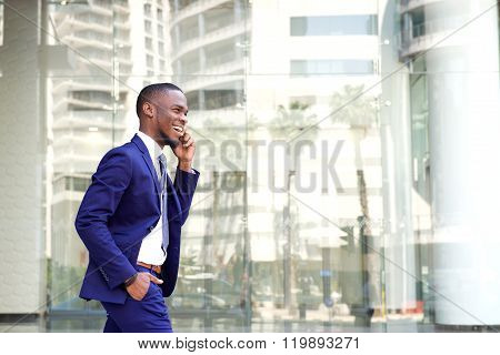 Young African Businessman Talking On Cell Phone