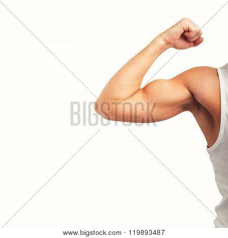 Man showing his biceps