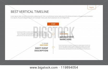 Simple Vertical Timeline Template