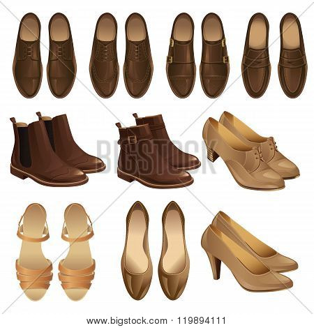 Vector illustration of classic shoe style.