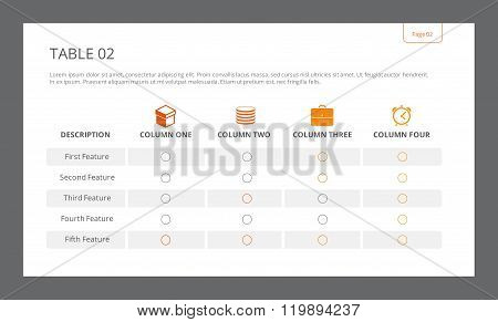 Table Slide Template 2