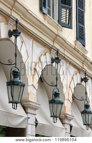 Greece. Corfu (kerkyra) Island. Corfu Town. Street Lamp