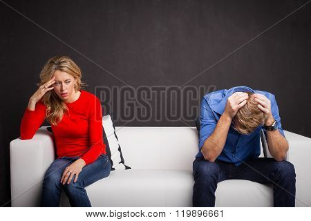 Couple having problems in their relationship