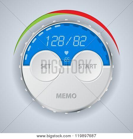Digital Blood Pressure Monitor Display
