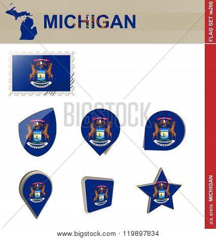 Michigan Flag Set, Flag Set #260