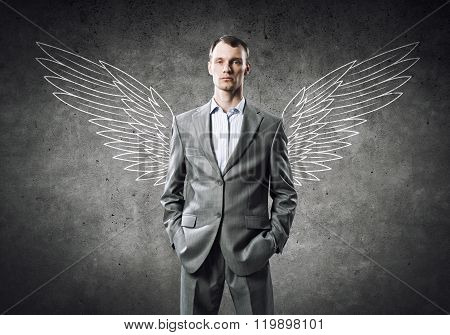 Businessman with wings