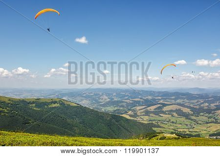 Skydiving  Extreme Over The Mountains