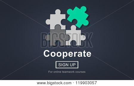 Cooperation Business Connect Association Organization Concept
