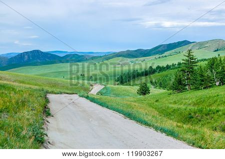 Dirt Road, Central Mongolian Steppe