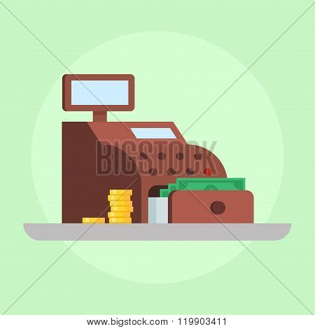 Cash Register Vector Illustration
