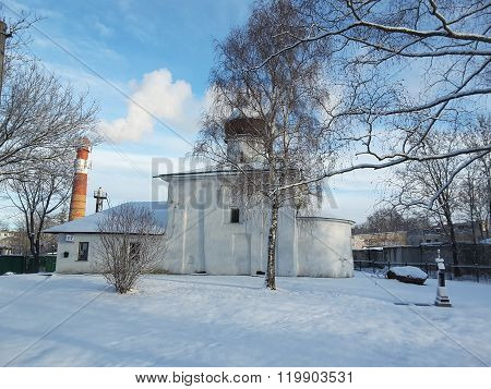 Church Of Nicholas On A Stone Wall, Russia, Pskov City. The Temple XV century