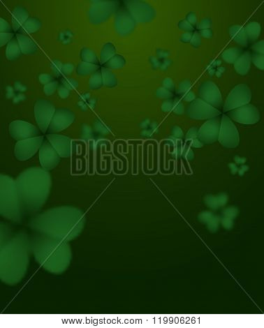 Green Clover 3D. Green Shamrock Clover Background. Background Of Plants