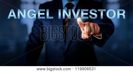 Entrepreneur Pointing At Angel Investor