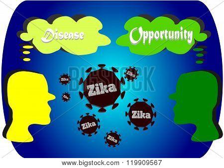 Both sides of Zika virus