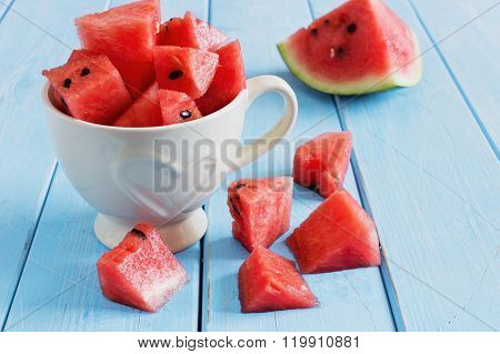 Sliced Watermelon Pieces