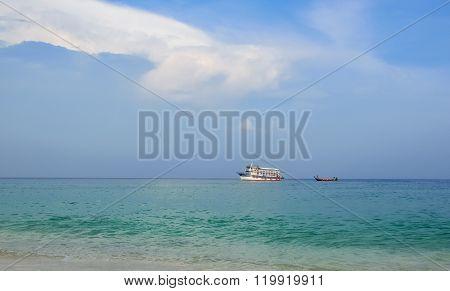 Boat in the sea.
