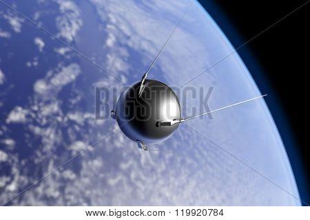 Sputnik Orbiting Earth