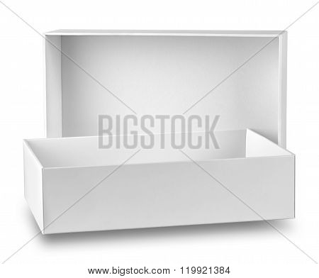 White box with open lid