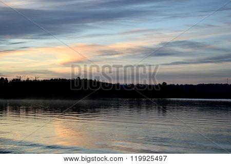 Lake At Sunrise.