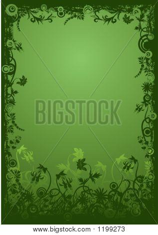 Floral Grunge Frame