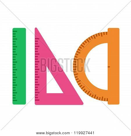 ruler triangle protractor