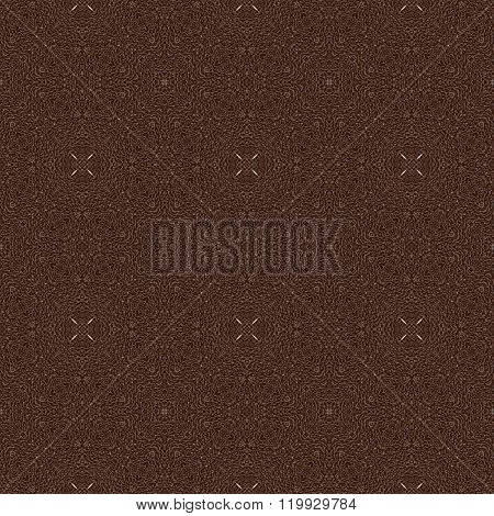 Seamless Dark Roasted Coffee Beans 3D Background With Floral Pattern