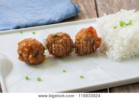 Meatballs Tapa And Rice